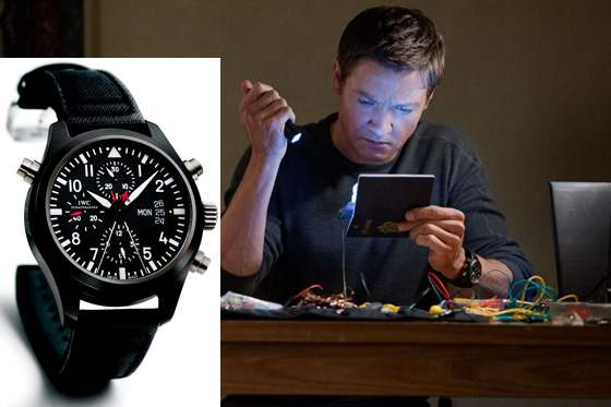 Jeremy Renner, IWC Double Chronograph Top Gun