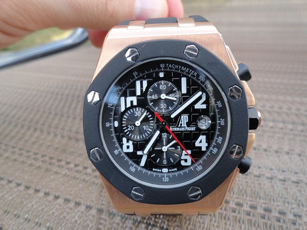 Audemars Piguet Replica Royal Oak Offshore rosa orologio d'oro