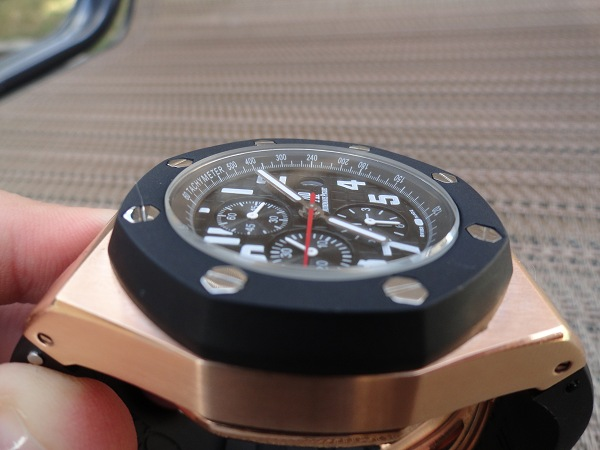 replica Audemars Piguet Royal Oak Offshore rosa orologio d'oro