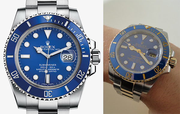 Differenze tra Rolex Submariner Replica Vs reale Blu Two Tone