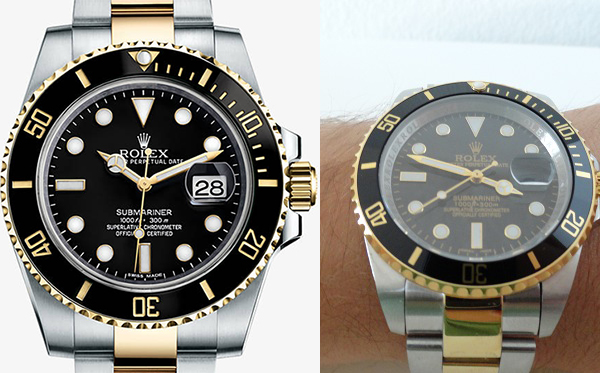 Differences-Between-Rolex-Submariner-Replica-Vs-Real-Two-Tone