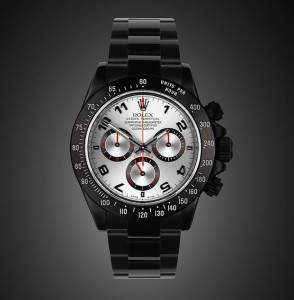 Rolex Daytona Black-Out arabo Racing: un modello di collezione Black-out proposta da Project X Designs ad un prezzo di 20.130 €.