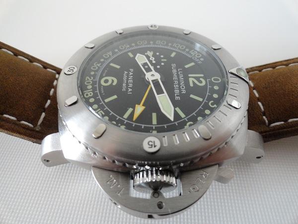 Panerai Luminor 1950 Pangea sommergibile del calibro di profondità replica vista laterale orologio