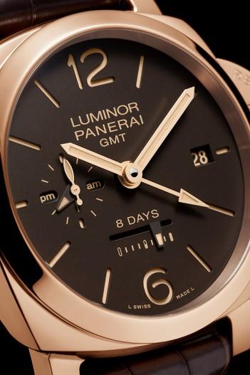 Repliche-Panerai-Luminor-1950-8-Days-GMT-Oro-Rosso